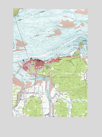 Astoria OR Topographic Map TopoQuest - Oregon topographic map
