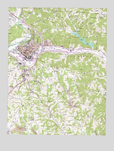 Topography Map Of Ohio.Athens Oh Topographic Map Topoquest