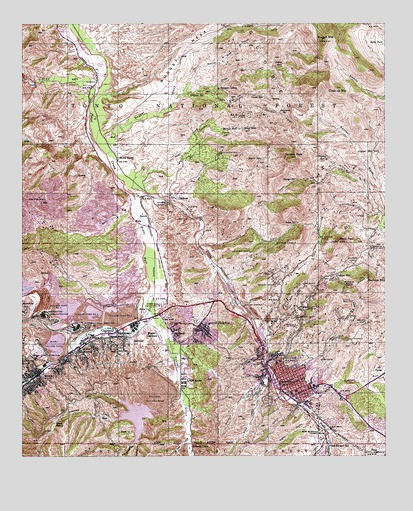 Globe AZ Topographic Map TopoQuest - Arizona topographic map