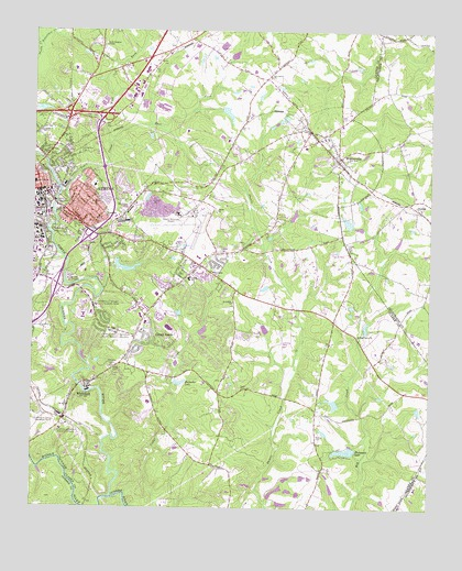 Map Of Georgia Athens.Athens East Ga Topographic Map Topoquest