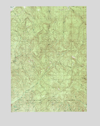 Goat Point, OR USGS Topographic Map