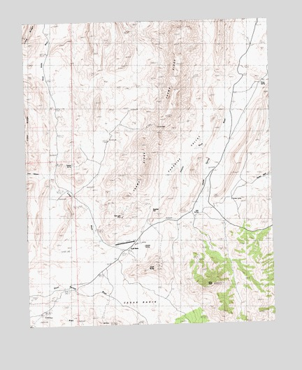 Gold Butte, NV USGS Topographic Map