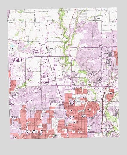 Addison Tx Topographic Map Topoquest