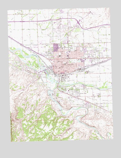 Grand Junction, CO Topographic Map - TopoQuest