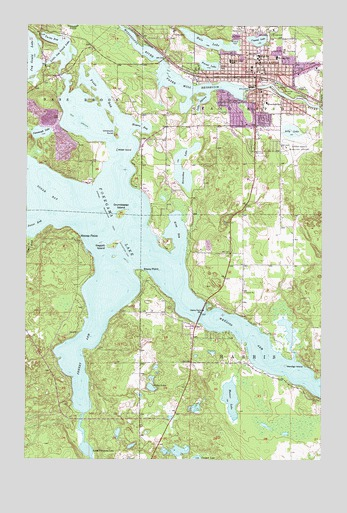 Grand Rapids MN Topographic Map TopoQuest - Pokegama lake map