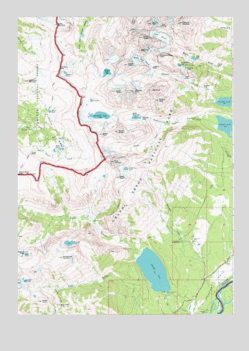Grand Teton, WY USGS Topographic Map