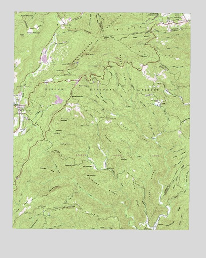 Grandfather Mountain, NC USGS Topographic Map