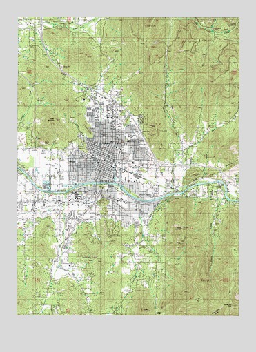 Grants Pass, OR USGS Topographic Map