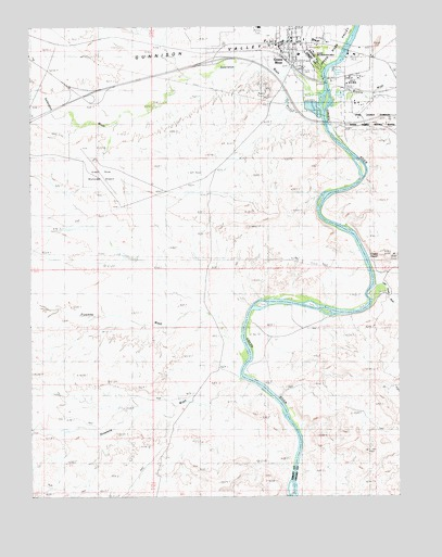 Green River, UT USGS Topographic Map