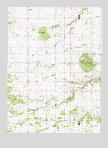 Green Top Mountain, WY USGS Topographic Map