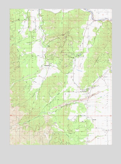 Greenview, CA USGS Topographic Map