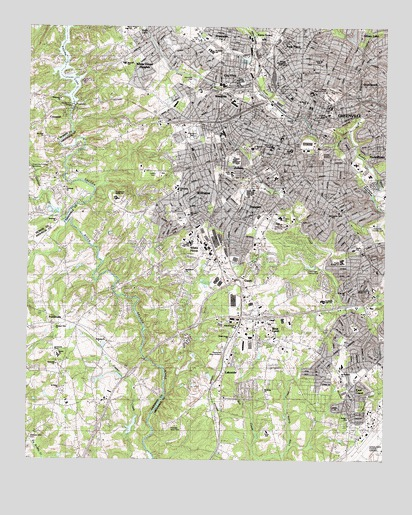 Greenville Sc Topographic Map Topoquest