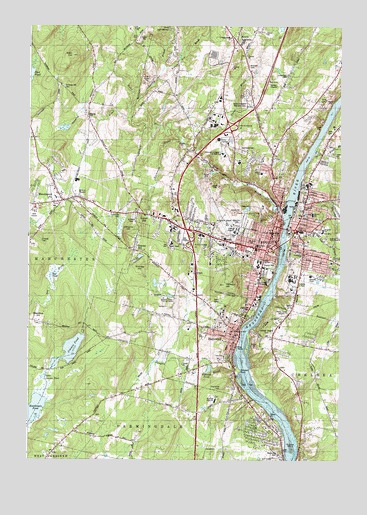 Augusta ME Topographic Map TopoQuest - Topographical map of maine