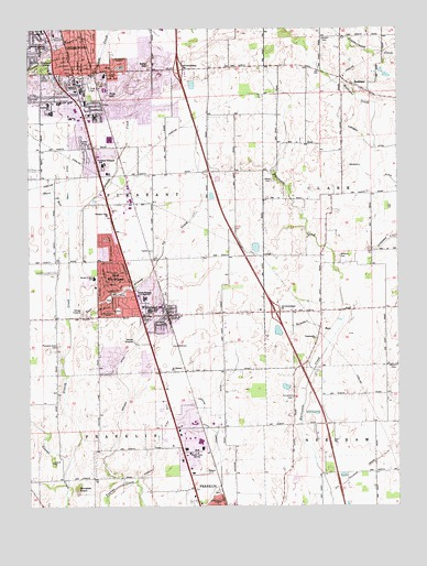 Greenwood IN Topographic Map  TopoQuest