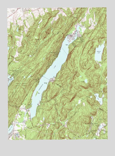Greenwood Lake, NY USGS Topographic Map