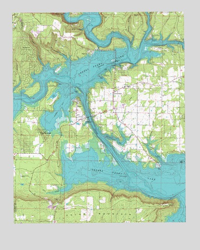 Greers Ferry Lake Map Greers Ferry, AR Topographic Map   TopoQuest