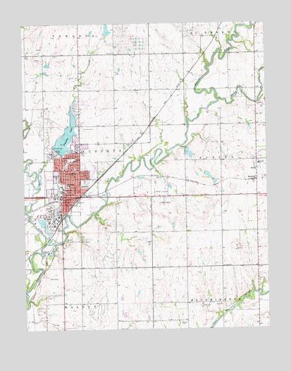 Augusta KS Topographic Map  TopoQuest