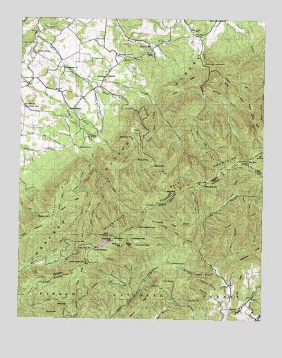 Greystone, TN Topographic Map - TopoQuest on