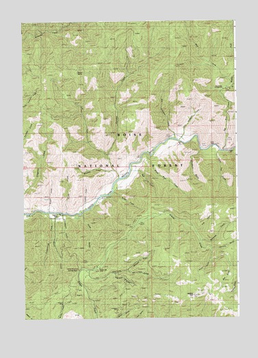 Grimes Pass, ID USGS Topographic Map