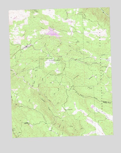 Groveland, CA USGS Topographic Map
