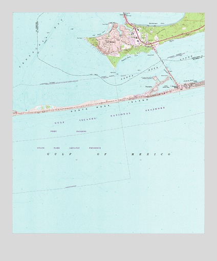 Map Of Gulf Breeze Florida.Gulf Breeze Fl Topographic Map Topoquest