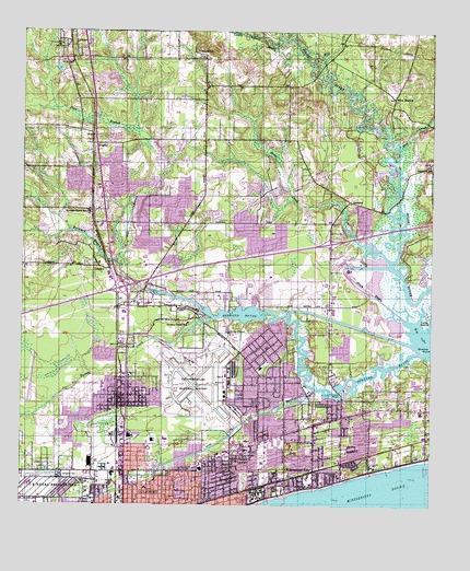 Gulfport North, MS Topographic Map - TopoQuest