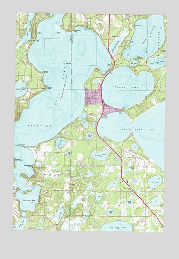 Gull Lake, MN Topographic Map - TopoQuest