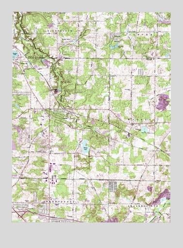 Aurora Oh Topographic Map Topoquest