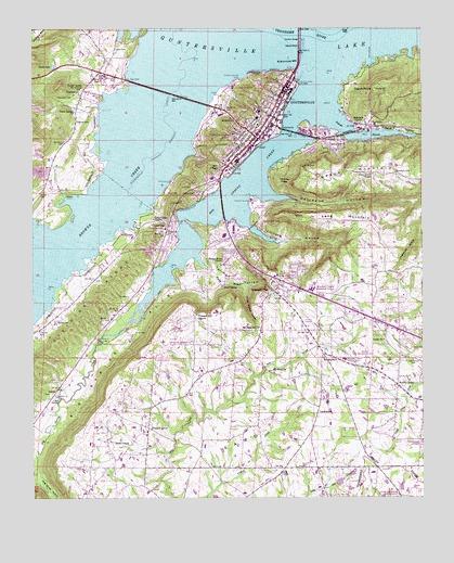 Guntersville AL USGS Topographic Map