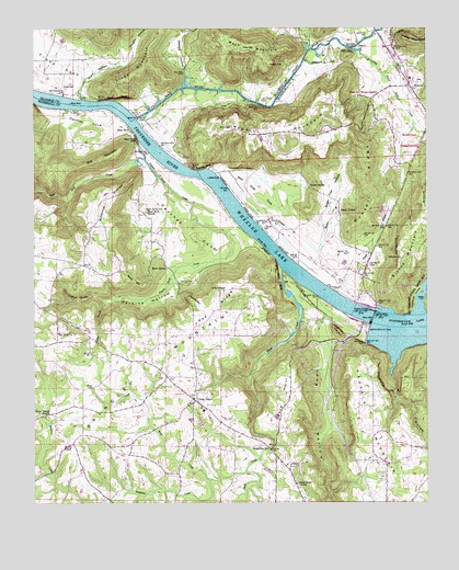 Guntersville Dam AL USGS Topographic Map