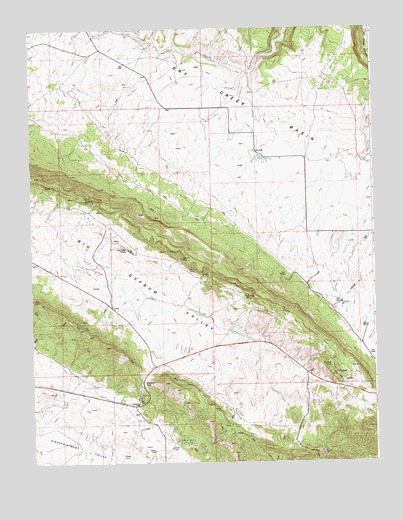 Gypsum Gap, CO USGS Topographic Map