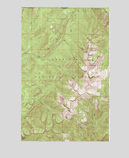Gypsy Peak, WA USGS Topographic Map