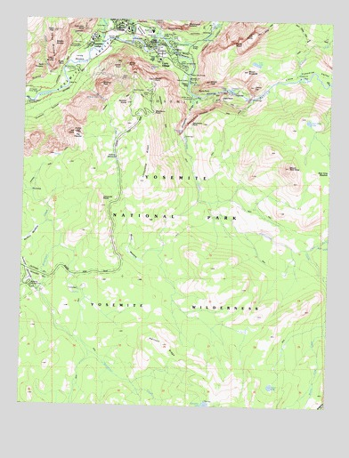 Half Dome, CA USGS Topographic Map