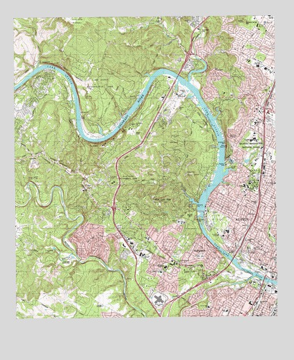 Austin West, TX Topographic Map - TopoQuest