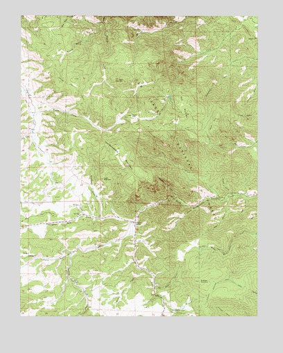 Hardscrabble Mountain, CO USGS Topographic Map