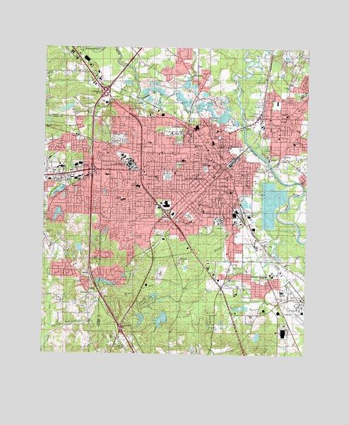 Map Of Hattiesburg Ms Hattiesburg, MS Topographic Map   TopoQuest