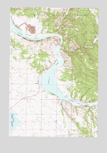 Hauser Lake, MT USGS Topographic Map