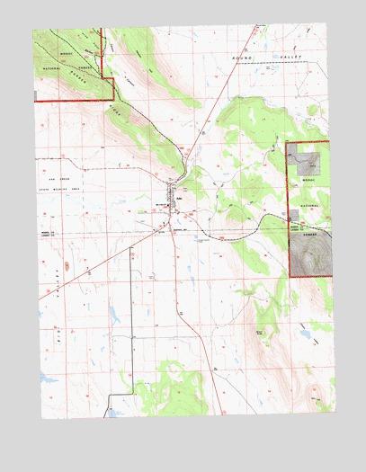Adin, CA Topographic Map   TopoQuest