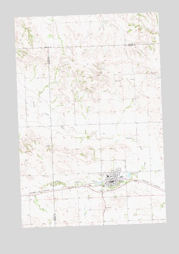 Hebron, ND USGS Topographic Map