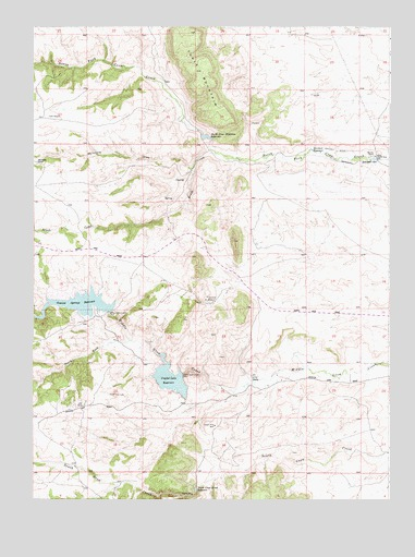 Hecla, WY USGS Topographic Map