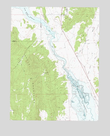 Hells Kitchen Canyon SW, UT Topographic Map