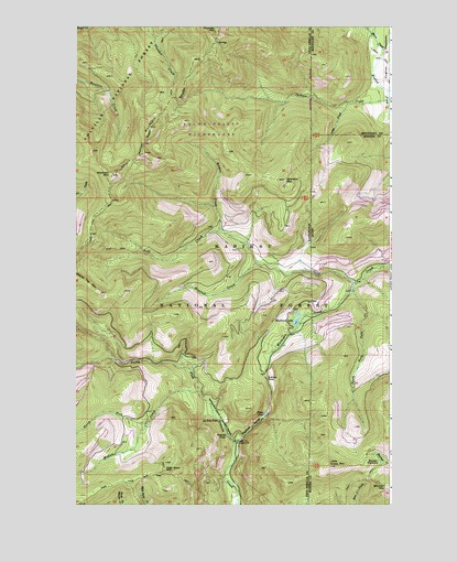 Helmer Mountain, WA USGS Topographic Map