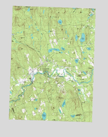 Henniker, NH USGS Topographic Map
