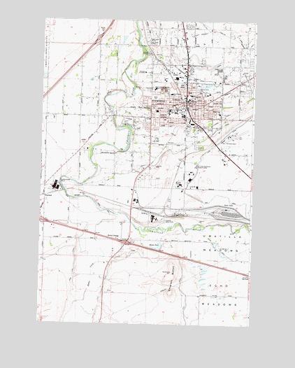 Hermiston OR Topographic Map  TopoQuest