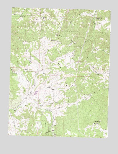 Hightower Mountain, CO USGS Topographic Map
