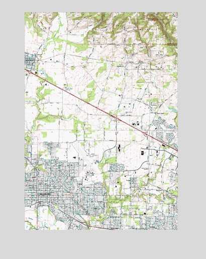 Hillsboro, OR USGS Topographic Map