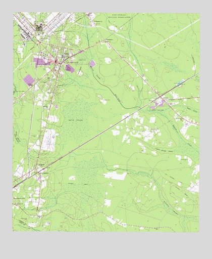Hinesville GA USGS Topographic Map