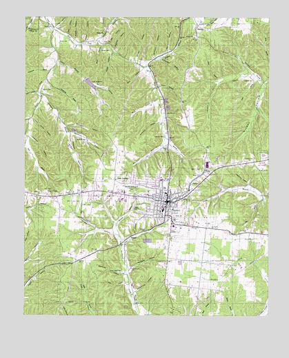 Hohenwald Tennessee Map.Hohenwald Tn Topographic Map Topoquest