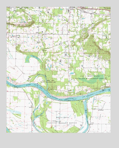 Holla Bend Ar Topographic Map Topoquest