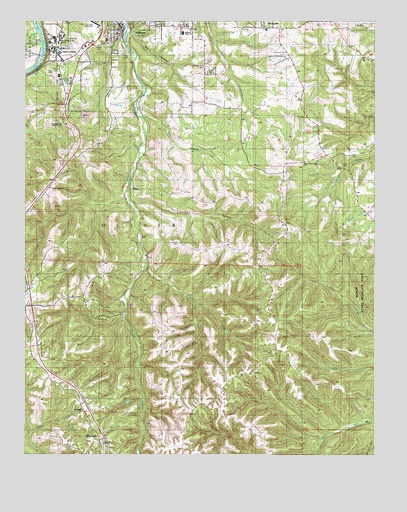 Hollister, MO USGS Topographic Map